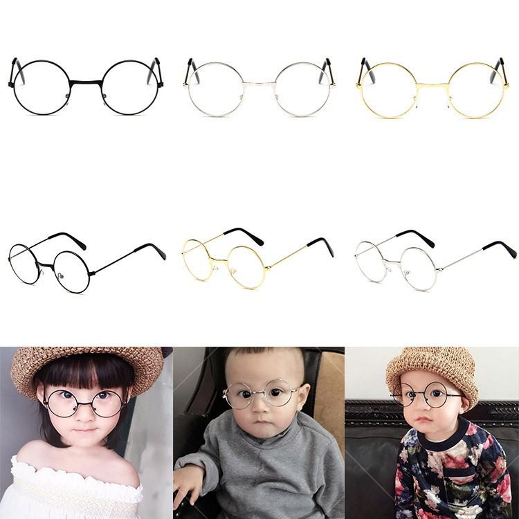 ✨ perfect ❀ Kính trẻ em Phong cách cổ điển Em bé Kính dễ thương thời trang Gọng kim loại Kính mắt trẻ em