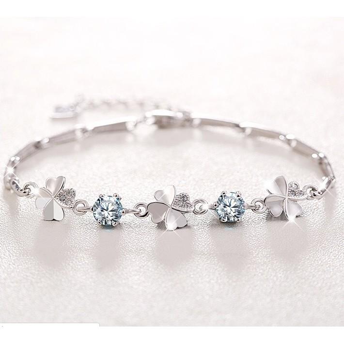 Vòng Tay Cỏ 4 Lá 💖FREESHIP💖 Lắc tay nữ C4L2 Four-Leaf Clover Bracelet