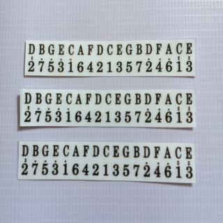 Combo 3 miếng sticker dán nốt kalimba