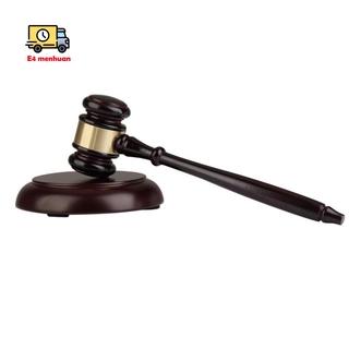 Wooden judge's gavel auction hammer with sound block for attorney judge auction handwork