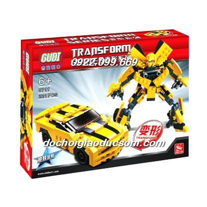 Bộ lego người máy, ô tô biến hình Tranformer 225 chi tiết