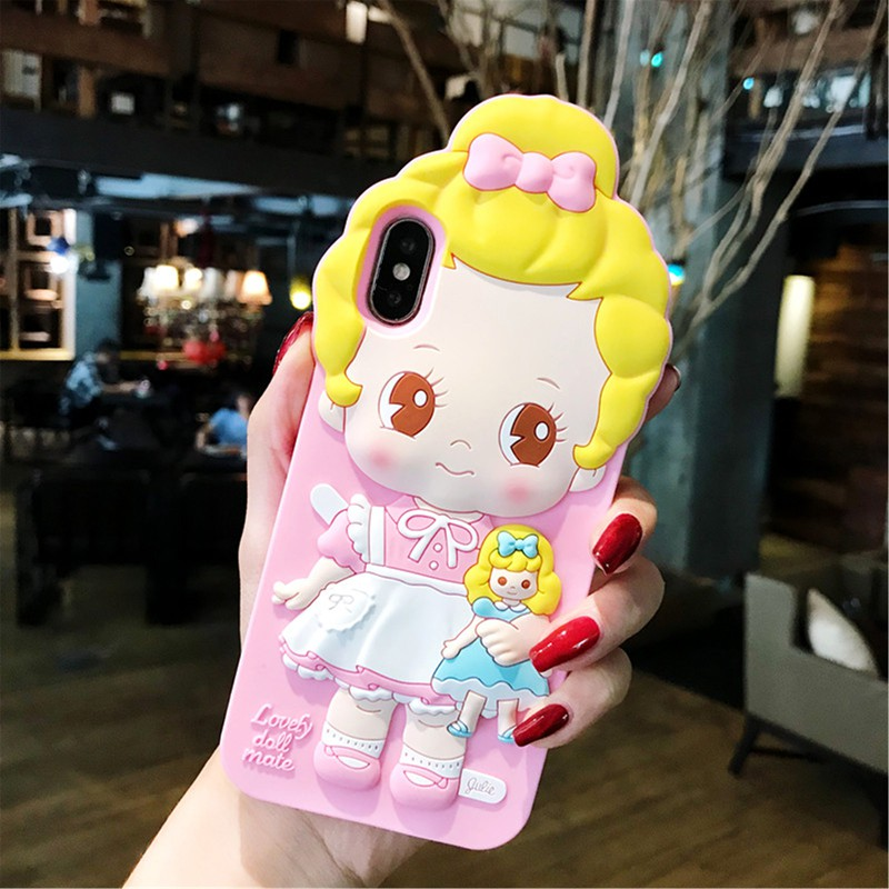 💕 LC Casing iPhone 6/6S/6P/7/8/7P/8P/iPhoneX Phone Casing British Doll Silicone Lovely
