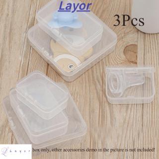 Set 3 Hộp Nhựa Trong Suốt Đựng Đồ Đa Năng Tiện Dụng