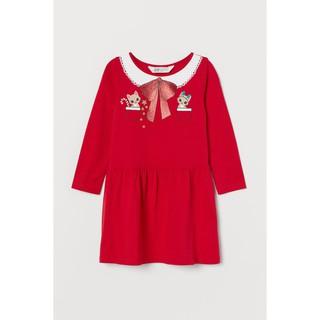 Váy dài tay đỏ noel Christmas HM H&M_hàng chính hãng authentic