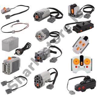 Bộ phụ kiện TECHNIC Moc non lego : motor, servo, điều khiển, bộ nguồn, pin cho mô hình điều khiển