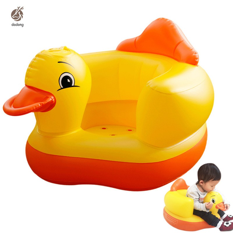 Multifunctional Inflatable Duck Toys Eco-friendly Wear-resistant Ergonomic Baby Toy