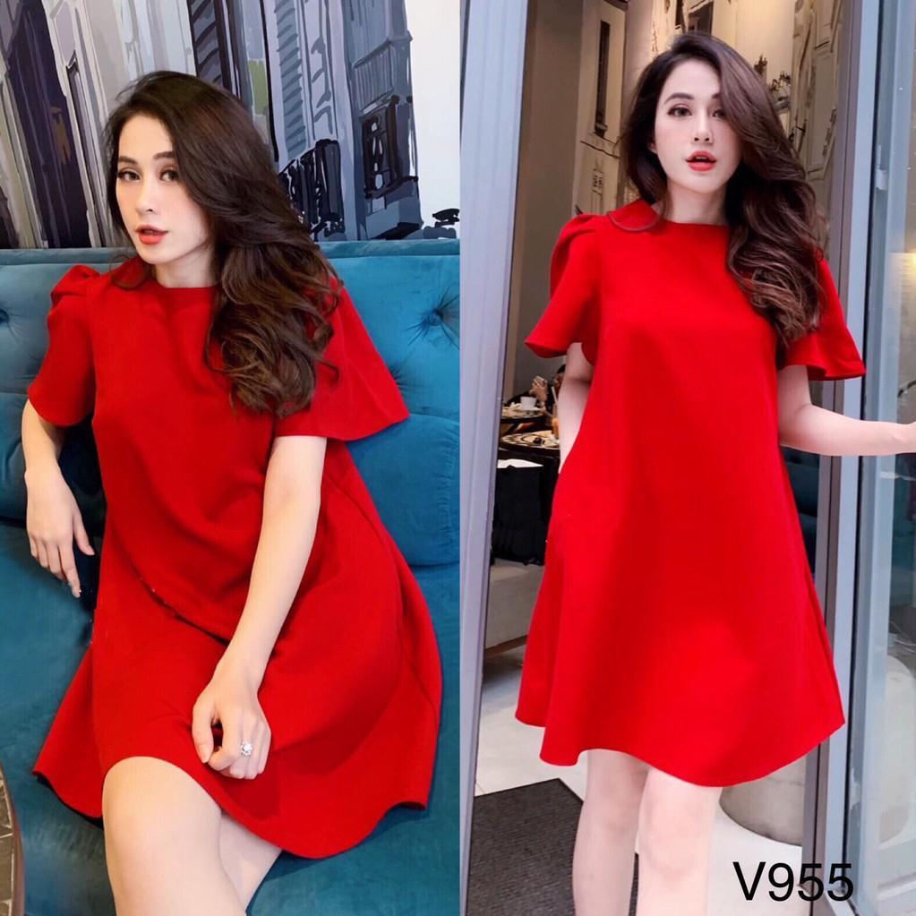 Váy xòe V955 - First Date Boutique (Kèm ảnh thật trải sàn do shop tự chụp)