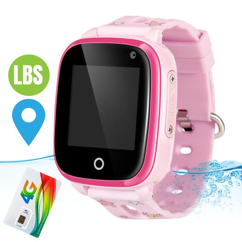 Đồng hồ định vị Trẻ em GPS Wi.Fi 4G DF33 Có chế độ Gọi Video tốc độ cao, Chống nước tuyệt đối IP67(Unlock 8868)