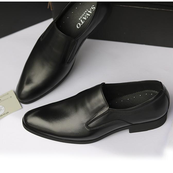 Giày Tây Nam Da Bò Đế Khâu ảnh Thật H58