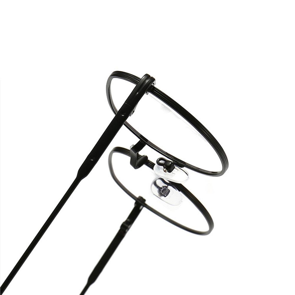 DIACHA Unisex Flat Mirror Eyewear Ultralight Myopia Glasses Optical Spectacle Round Frame High-definition Fashion Metal Eyeglasses/Multicolor