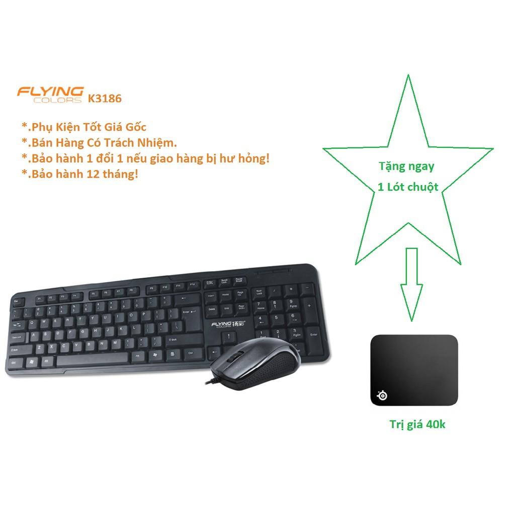 Bộ bàn phím chuột k3186 chơi game cực ngon giá rẻ bảo hành 12 tháng