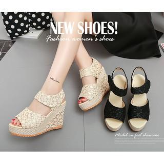 Giày đế xuồng nữ cao cấp form chuẩn Size 35 đến 40 màu kem, đen 9 phân V68 thumbnail