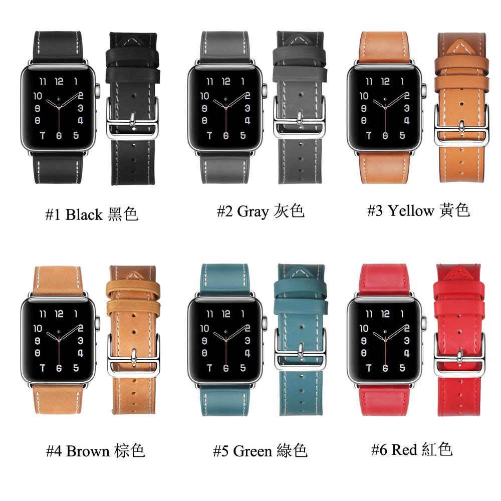Dây đeo bằng da thật cho đồng hồ thông minh Apple Watch 38mm 40mm 42mm 44mm 1 4