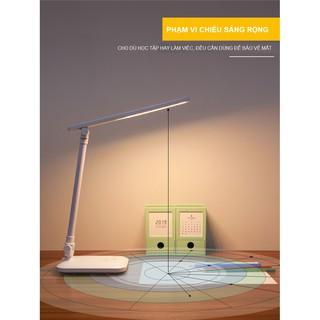 Đèn Bàn Học Đọc Sách, Làm Việc (Học Sinh, Sinh Viên, Văn Phòng) LED Chống Cận, Cảm Ứng Tích Điện Gập 2 Chỗ - hình 4
