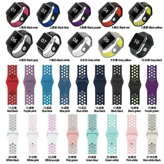 T500 T55 T5 F10 F20 F18 FT50 FT30 Dây đeo Iwatch Series 5 4 3 2 1 Dây đeo 38 40 42 44mm Dây đeo Nike Silicon cho Đồng hồ Apple Iphone