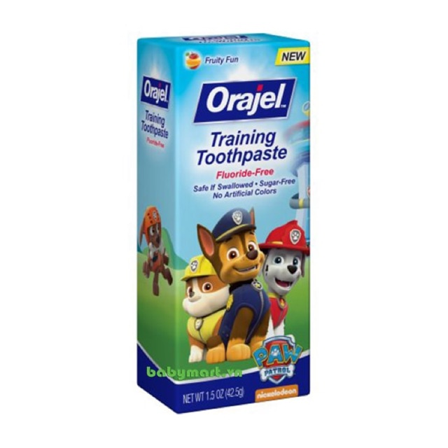 Kem đánh răng Orajel (nuốt được) (42g)