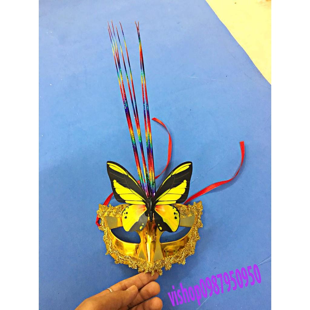 (K14) mặt nạ lông vũ có đèn bỏ sỉ