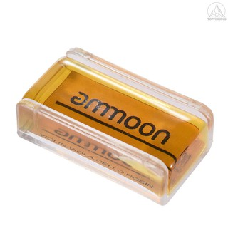Tfh★ammoon High-Class Transparent Orange Natural Rosin with Cuboid Wood Box for Violin Viola Cello Handmade Light and Lo