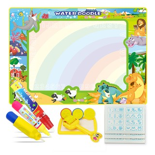 100x70cm Kids Water Drawing Mat Toy Set with 2 Magic Pens & 1 Brush Painting Toys