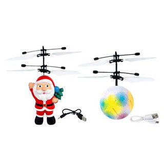 Christmas Gifts Infrared Sensor Aircraft Flying Ball With Light Rechargeable Toys For Children