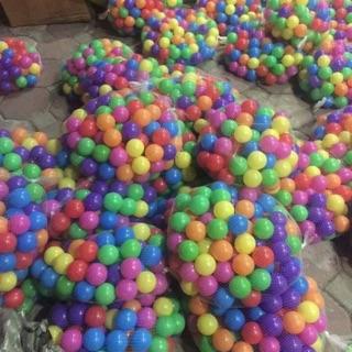 Túi lưới 100 bóng nhựa ( bóng cỡ 5 cm )