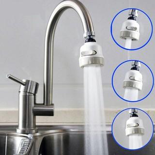 Đầu vòi rửa chén bát tăng áp, điều hướng xoay 360 độ, 3 chế độ, tiết kiệm nước, phù hợp với nhiều loại vòi (Trắng) thumbnail