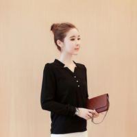 Áo Sơ mi nữ công sở kiểu cổ V cài nút 2 túi | WebRaoVat