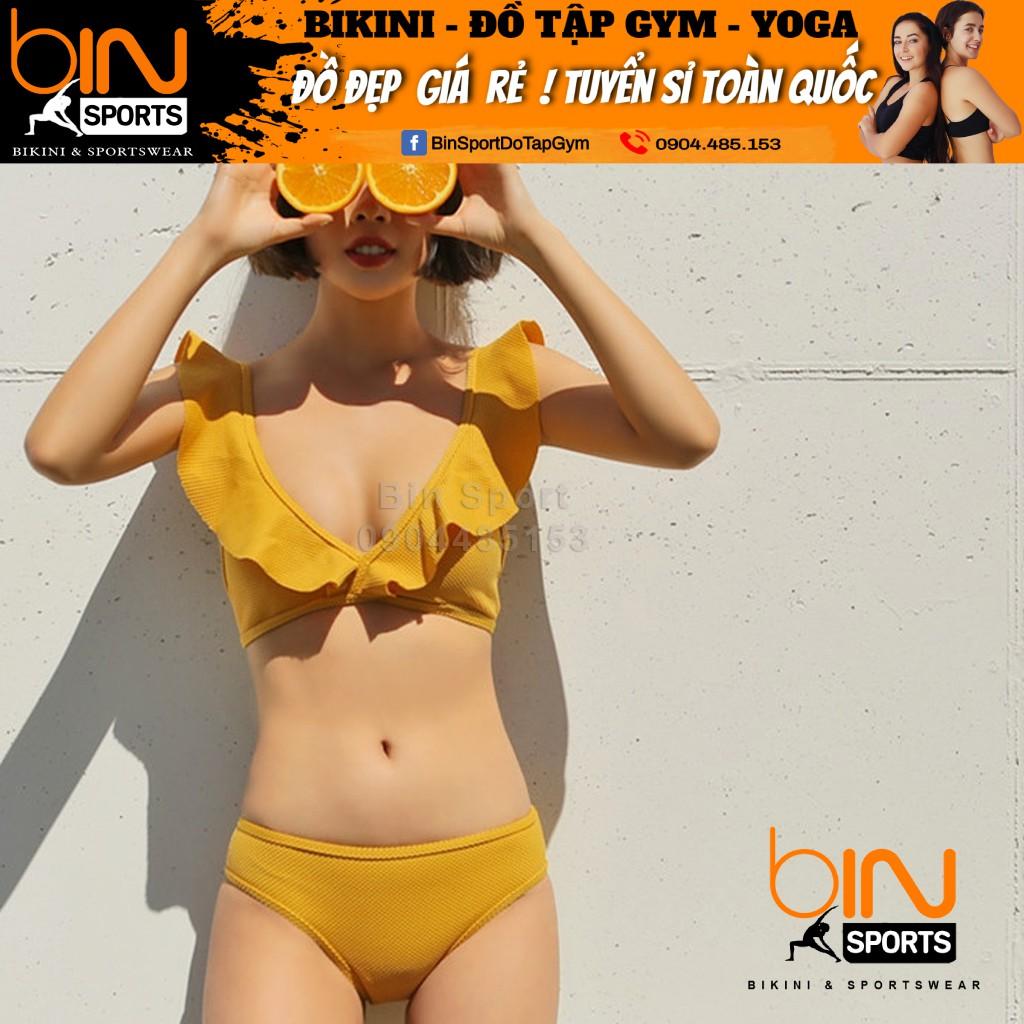Bộ Bikini 2 Mảnh Màu Vàng Siêu Hot, Hàng Nhập,BHN002