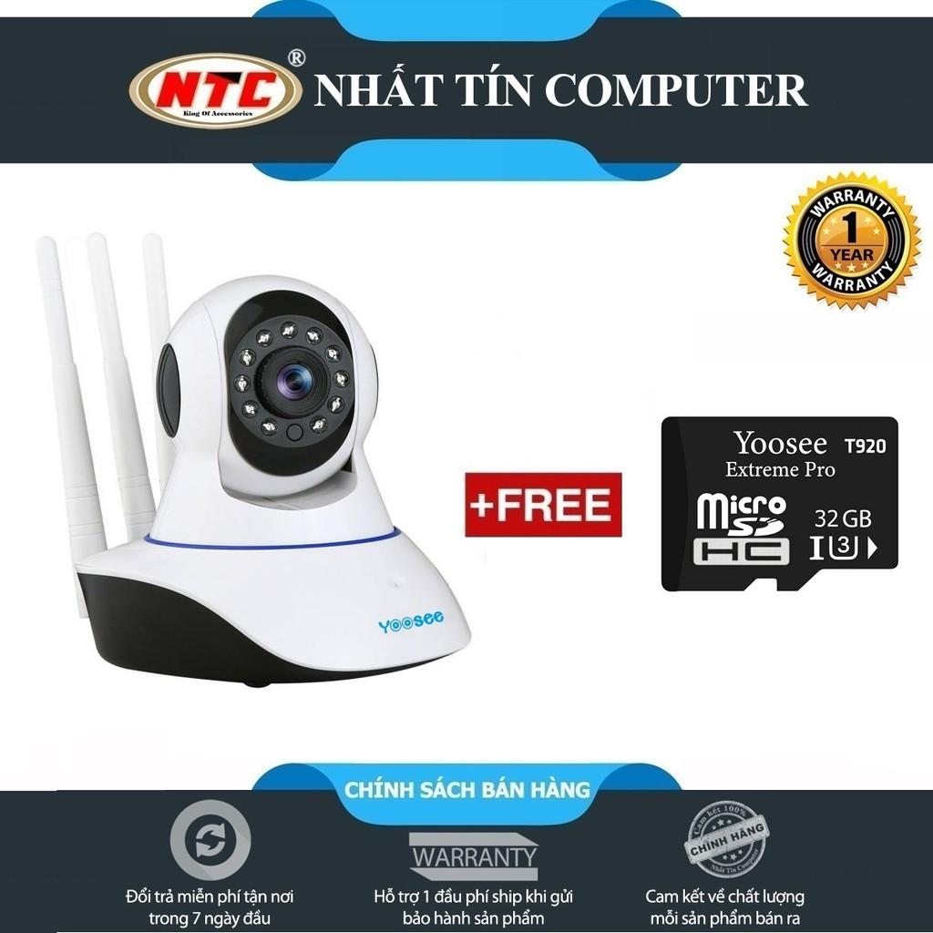 [Freeship đơn từ 50k] Camera IP Wifi Yoosee 3 Râu - Tặng thẻ nhớ Yoosee U3 4K T920