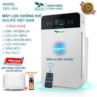 ☜✅[Chính Hãng] Máy Lọc Không Khí Gulife Làm Sạch Không Khí HEPA, Diệt Khuẩn UV, Lọc Bụi Mịn PM2.5 Khử Pormaldehyd-GML-86