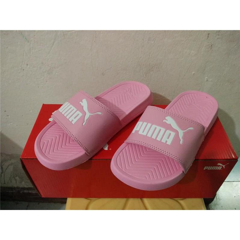PUMA_Ready Stock Men's Popcat Slide Sandal For Women Pink Shoes for men