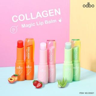 [An Toàn - Auth Thái ] Son Dưỡng Odbo Collagen Magic Lip Balm OD521 thumbnail
