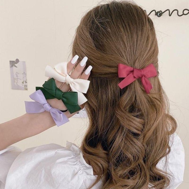 Set 2 kẹp tóc phối nơ cho bé gái siêu dễ thương (màu siêu đẹp)