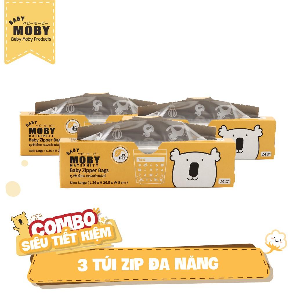 3 Túi zip đa năng Moby (24 túi/hộp)