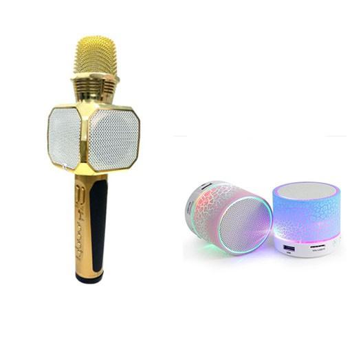Mic hát karaoke SD-10 kèm loa Bluetooth tặng loa mini bluetooth hld600