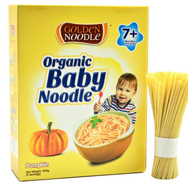 Mỳ hữu cơ vị bí đỏ cho bé hãng Golden Noodle 200g