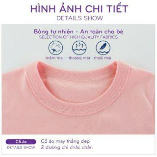 Áo thun bé gái 27HOME áo thun cotton cho bé in hình dễ thương