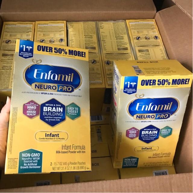 Sữa bột Enfamil Neuro Pro NON-GMO infant formula , date mới nhất 2/21