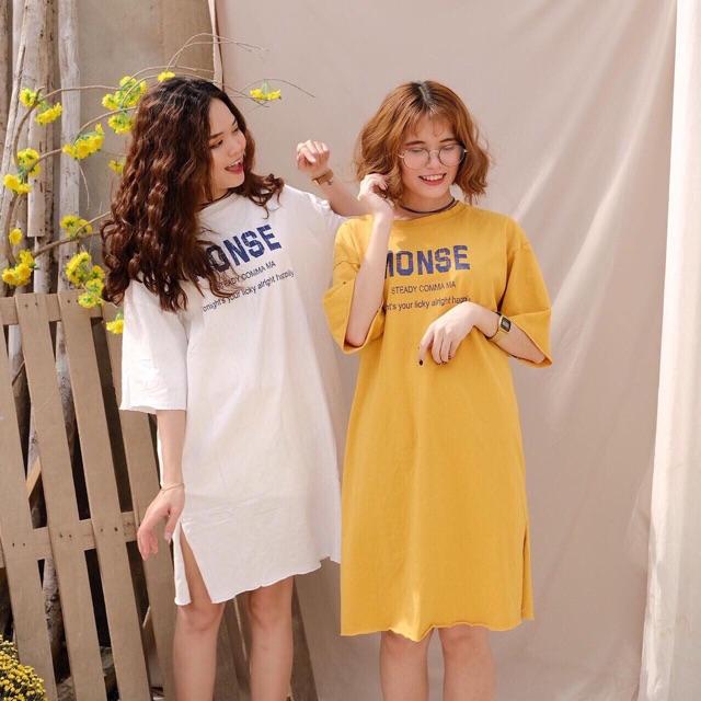 Đầm suông xẻ tà Monse