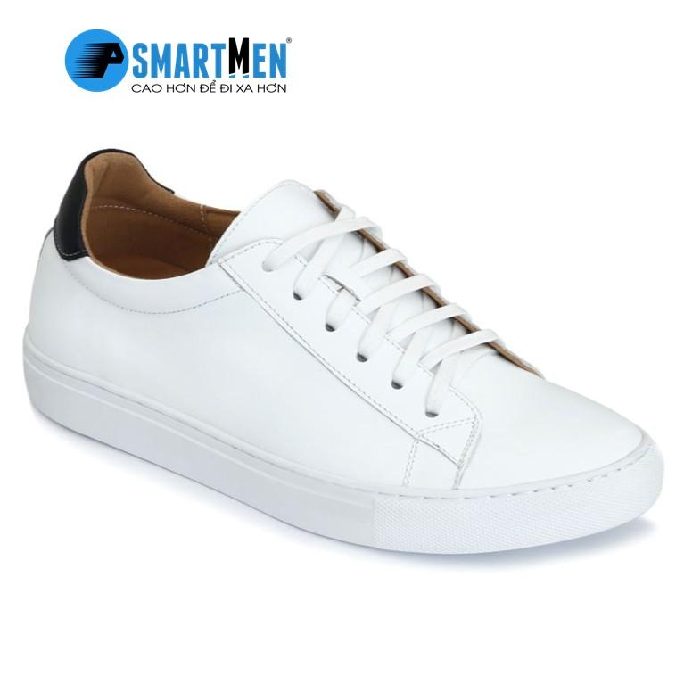 Giày tăng chiều cao thể thao Smartmen GD108T Trắng