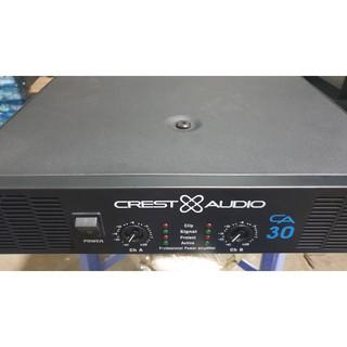 Cục đẩy 2 kênh Crest Audio CA30 32 sò lớn bảo hành 12 tháng phù hợp nhiều loại loa chất âm bass mạnh mẽ hay