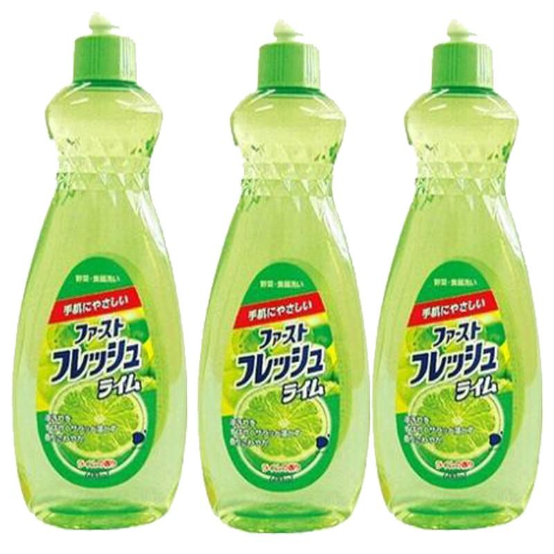 Combo 3 Chai Nước Rửa Chén, Ngâm Rửa Rau Quả Đa Năng DAIICHI Hương Chanh Nhật Bản 600ml