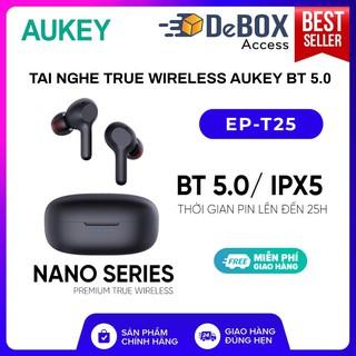 Tai Nghe True Wireless AUKEY EP-T25, BT 5.0, Pin Lên Tới 25H, Cảm Ứng, Chống Nước IPX5, Nghe Độc Lập 2 Tai – BH 24T