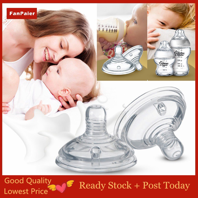2pcs Soft Nipple for Tommee Tippee Wide Nipple Replacement Teats Puting Teat Nipple Baby