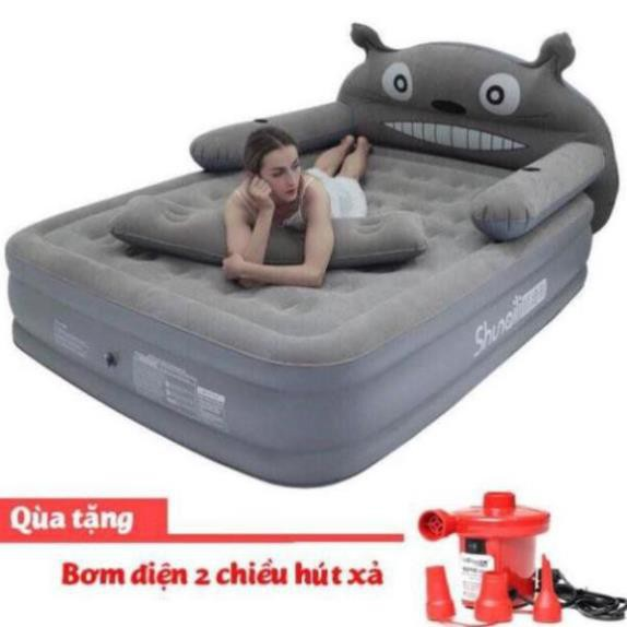 [CAO CẤP - FREESHIP] Giường hơi hình thú, đệm hơi hình thú 3 tầng cao cấp tặng kèm bơm điện - Nệm hơi cao cấp
