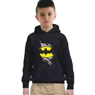 Áo khoác đen có mũ in hình Batman cho bé trai thumbnail