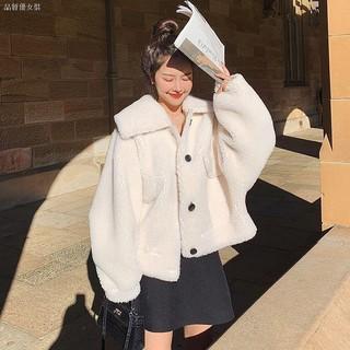 Áo Khoác Lông Cừu Dáng Rộng Mềm Mại Ấm Áp Cho Nữ Kiểu Hàn Quốc