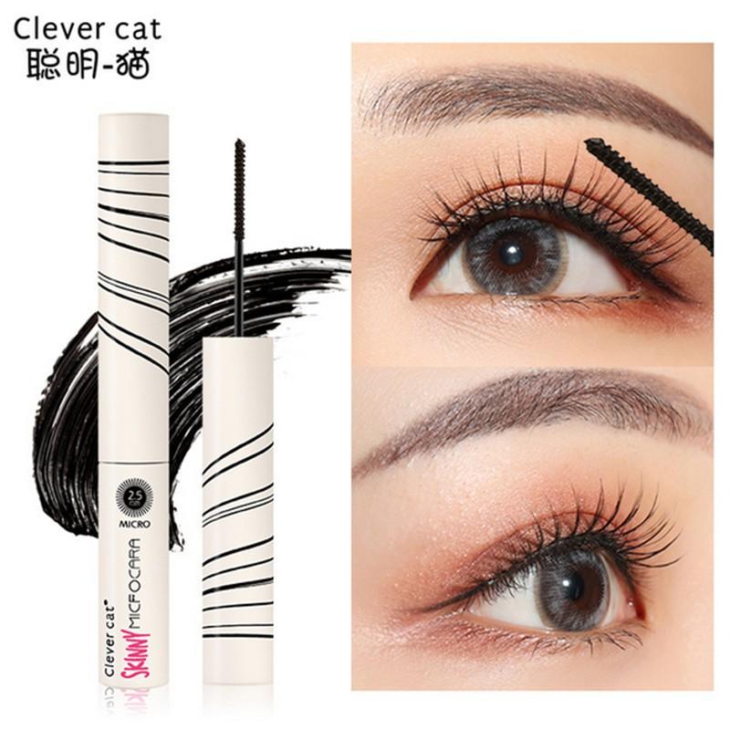 Mascara 3D chải dài và dày lông mi màu đen chống thấm nước tiện lợi