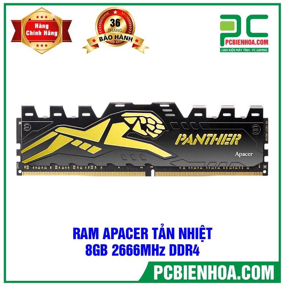 Ram DDR4 Apacer Panther 8GB bus 2666 tản nhiệt ( Bảo hành 36T)
