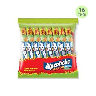 Hình ảnh [Mã GRO1PVM14 giảm 10% đơn 150K] Kẹo Alpenliebe Hương Xoài Nhân Muối Ớt 16 Thỏi-1